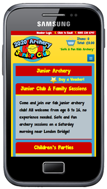 Mobile Website 1